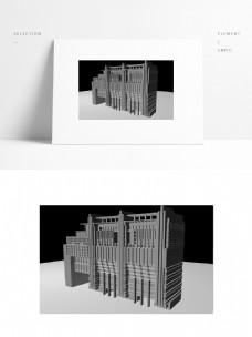 实验学校教学楼单独模型