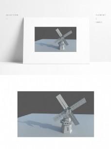 特色欧式建筑风车房