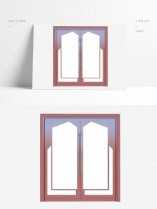 中式风格玻璃双开门