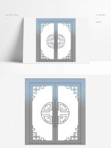中国风格玻璃双开门