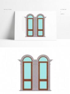 简欧窗户3D模型
