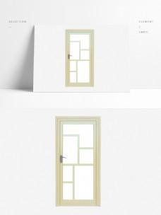 现代风格单开玻璃门