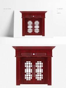 中式实木复合双开门