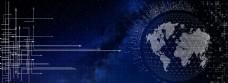 蓝色科技网络地球背景