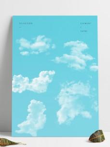 5款白色云朵笔刷abr文件