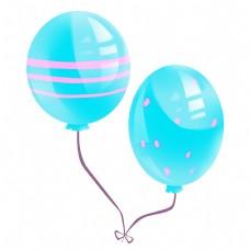 两个蓝色气球