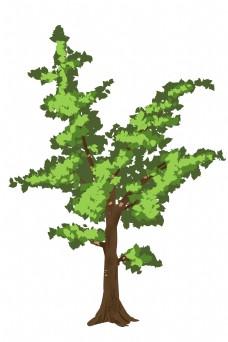 伫立大树绿植