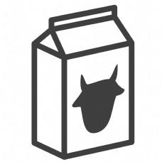 卡通的牛奶包装