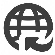 圆形的地球图标
