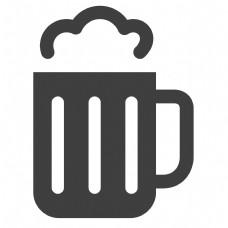 卡通的啤酒酒杯