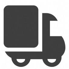 黑色的卡通货车