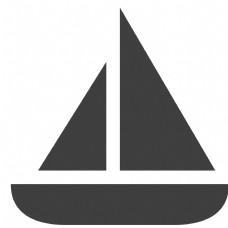 黑色的帆船图标