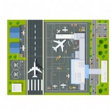 卡通飞机场