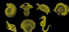 海洋生物笔刷