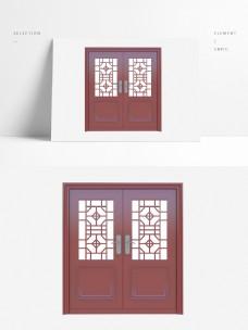 复合中式双开玻璃门