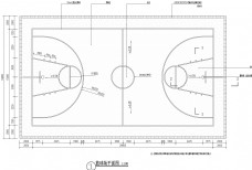 篮球场地施工图纸