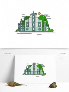 澳门特色建筑地标原创AI设计元素适量图片