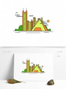 深圳特色建筑旅游景点原创房子高楼设计元素