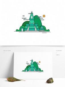 西藏建筑旅游景点原创特色建筑房子设计元素