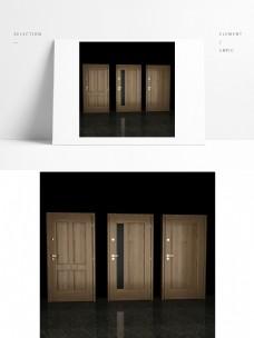 室内单开木门模型