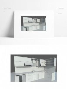 组合壁橱简约白模小场景