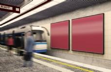 地铁广告牌样机