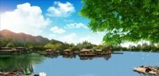 山水风景 中堂画