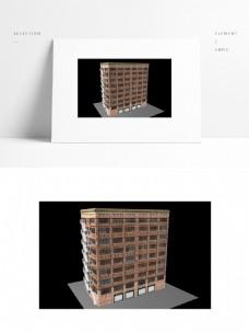 简约楼房场景模型