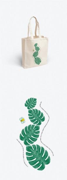 绿植主题小清新帆布包