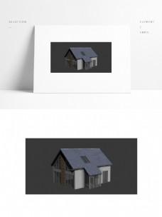 现代玻璃建筑场景模型