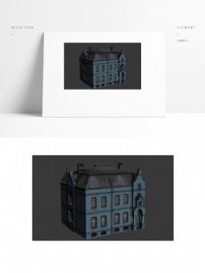 现代欧式建筑楼房场景