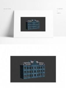 现代欧式建筑场景模型