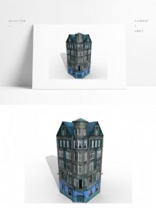 简约楼房建筑模型贴图