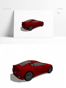 红色家用四人座汽车
