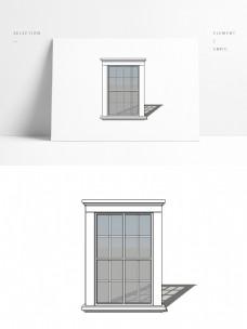 白色简约通用窗户