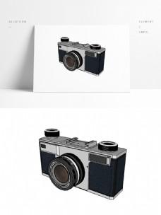 黑色品牌单反照相摄影机