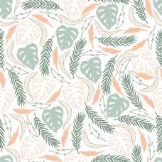 抽象叶子线条叶子壁纸图案