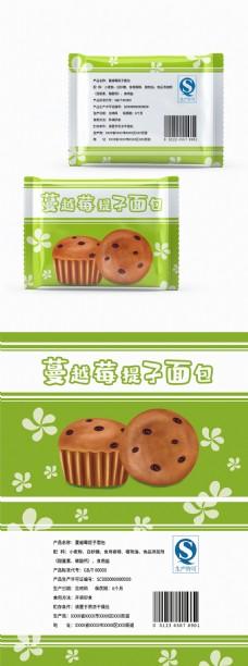 原创食品包装小面包系列蔓越莓提子包装插画