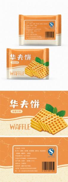 原创食品包装小面包系列华夫饼包装插画