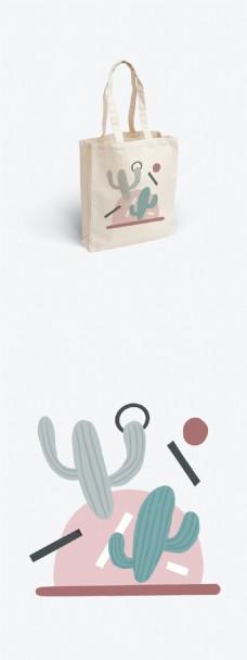 原创清新简约绘本风植物插画包装