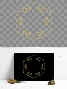 中国花纹矢量图标元素