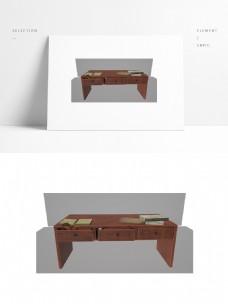仿古红木家具书桌