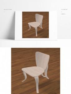唯美浪漫卡通创意木椅子max模型