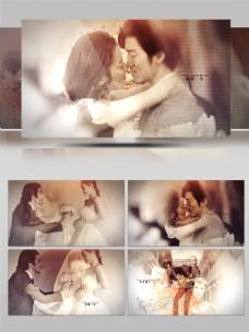 复古浪漫金色婚礼led情人节视频AE模板