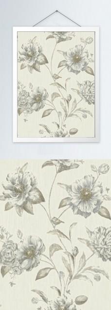 植物花卉彩色装饰画