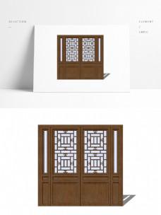 中式双扇传统木门