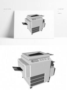 大型图纸打印机模型