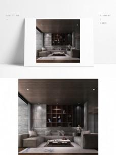 新中式灰色高级棉麻沙发