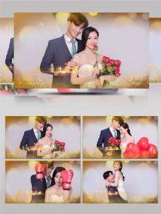 浪漫金色粒子婚礼电子相册AE模板