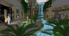 休闲水街景观设计